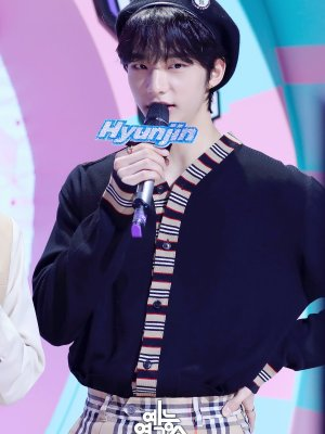 Multi color Stripped Design Cardigan | Hyunjin – Stray Kids