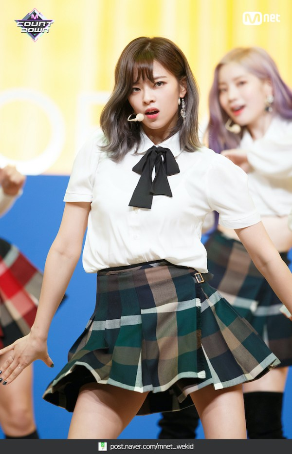 White Short Sleeve Shirt with Lace Bow Tie | Jeongyeon – Twice