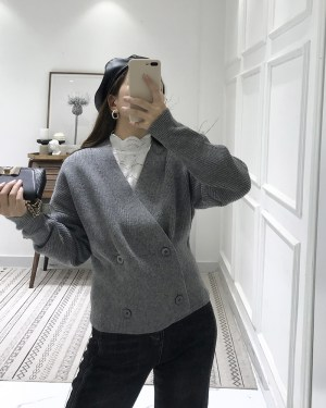 Jihyo Double Knit Cropped Cardigan 3