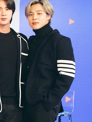 Tri-button with Multiple Stripes Oversize Suit | Jimin – BTS