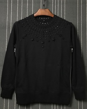 LeeKnow Star Metal Rivet Sweatshirt (1)