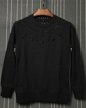 LeeKnow Star Metal Rivet Sweatshirt (1)