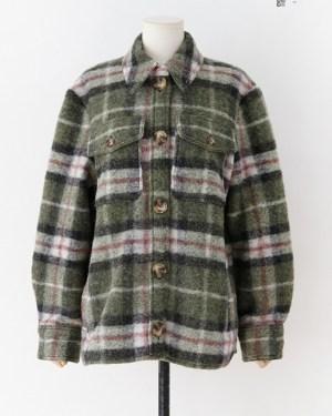 Nayeon Woolen Plaid Coat (9)