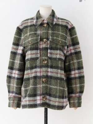 Nayeon Woolen Plaid Coat (9)