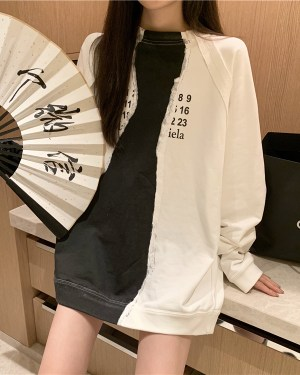 Woojin Two Tone Numeric Sweatshirt 0