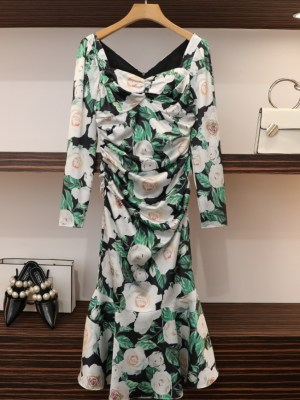 Yoon Se Ri Green Chic Long Flower Dress (15)