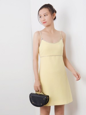 Yoon Se Ri Light Yellow Cami Dress (5)