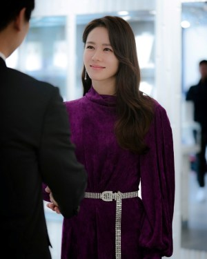 Lilac Unique Collared Belted Dress | Yoon Se Ri- Crash Landing On You