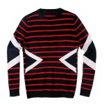 Red Thin Stripes and Triangle Designed Sweater | Doyoung – NCT