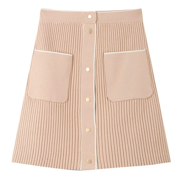 Tanned Color Front Pocket Skirt | Jennie – Blackpink