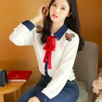 Twin Bee Embroidered Long Sleeve Shirt | Jennie – Blackpink