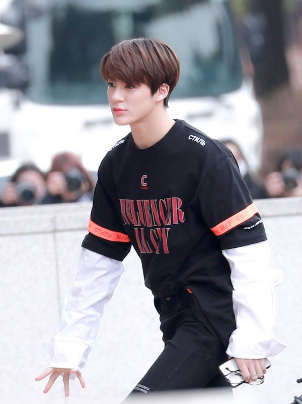 Influencer with Orange Arm Band Shirt | Jeno – NCT