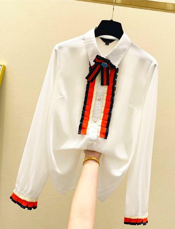 Chiffon Poplin Long Sleeve Shirt   Jisoo – Blackpink
