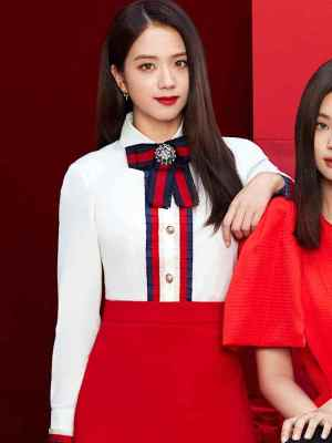 Chiffon Poplin Long Sleeve Shirt | Jisoo – Blackpink
