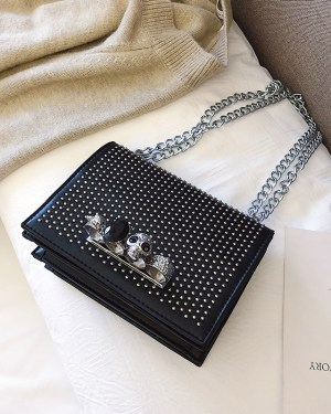 Jo Yi So Gothic Jewelled Black Sling Bag 4