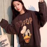 Charcoal Donald Duck Print Pullover | Jungwoo – NCT