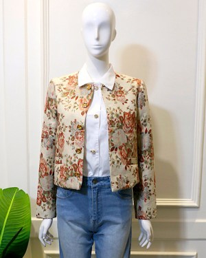 Lisa Vintage Flower Print Coat 5
