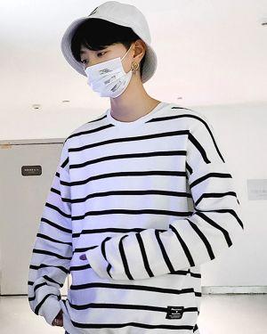 Ma Hyun Yi Casual Striped Long Sleeve Pullover 8