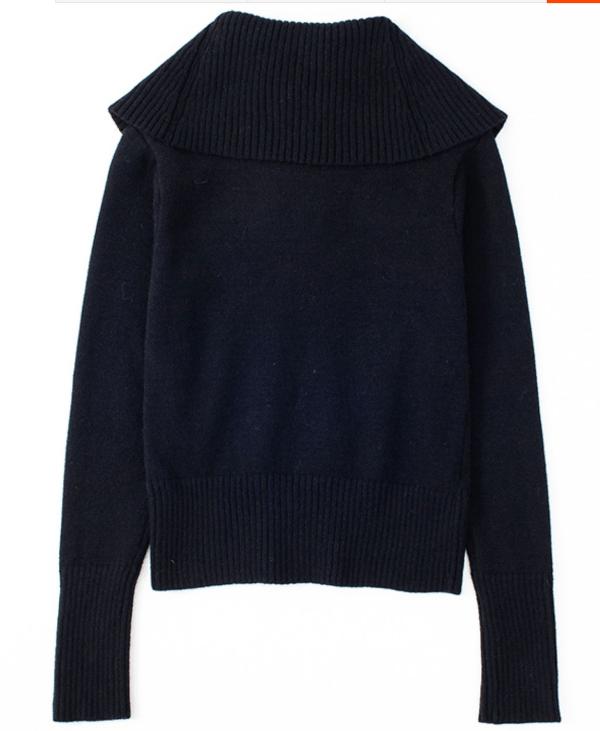 Full Turtle Neck Slim Sweater | Rose – Blackpink