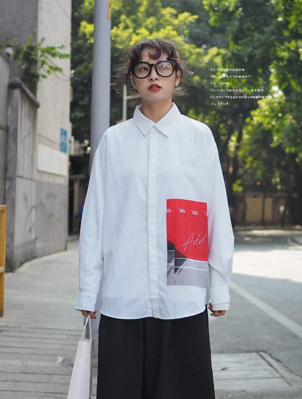 One Side Graphic Oversize Sleeve Shirt | Taeil – NCT