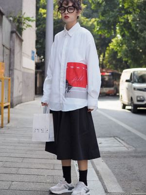 Taeil One Side Graphic Oversize Sleeve Shirt 5