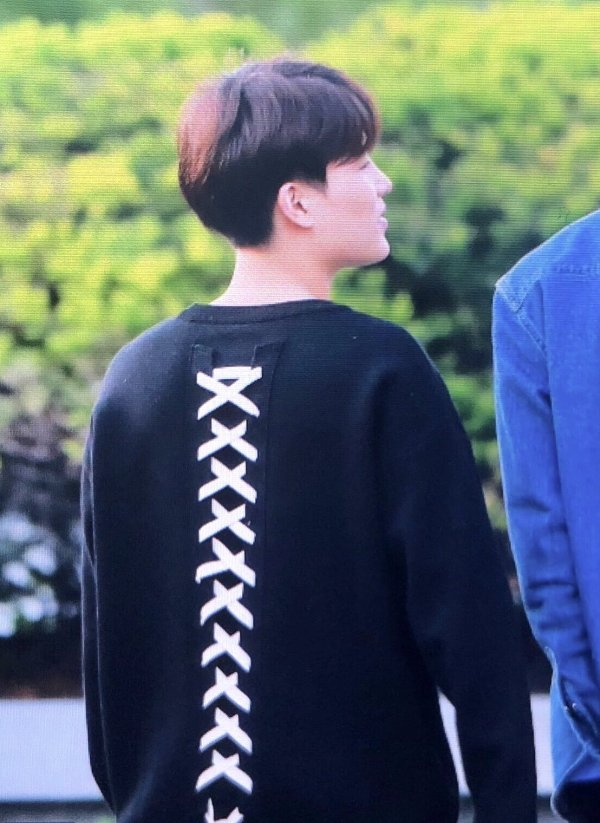 White Laced Back Pullover   Taeil – NCT