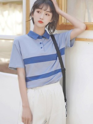 Blue Collared Short Sleeve Polo (6)
