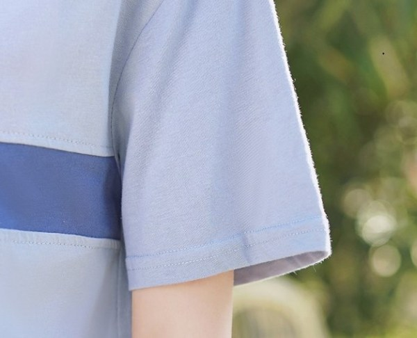 Blue Collared Short Sleeve Polo