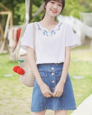 Boho Inspired Short Sleeve T-shirt (7)