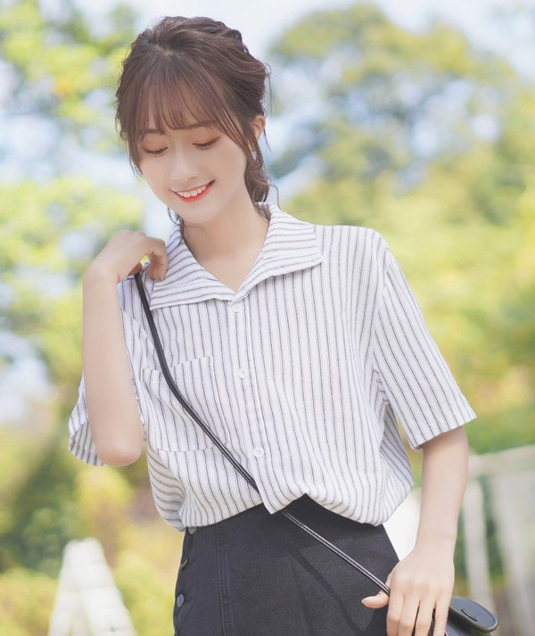 Classic Triple Horizontal Lines with Single Square Pocket Shirt