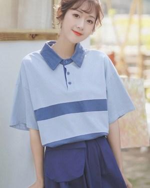 Doll Collar Polo Shirt (5)
