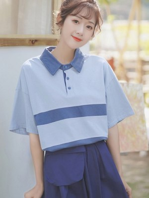 Doll Collar Polo Shirt (5)