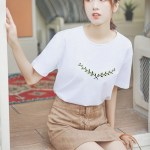 Embroidered White T-shirt
