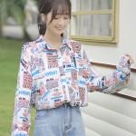 Good Morning Print All Over Shirt