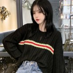 Large Ribbed Cropped Sweater | Jennie – Blackpink