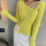 Lime Green Thick Ribbed Sweater | Joy – Red Velvet