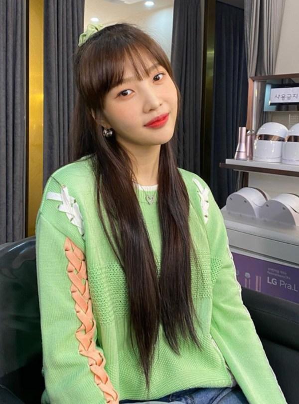Orange and White Lace-up Sweater | Joy – Red Velvet
