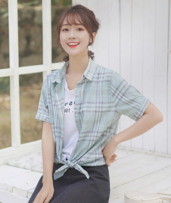 Loose Soft Plaid Buttoned Shirt