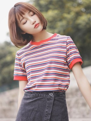 Multicolored Striped T-Shirt (5)