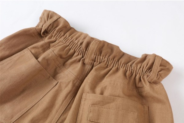 Khaki High Waist Wide Leg Shorts | Seulgi – Red Velvet