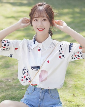 Shape and Lines Chiffon Shirt