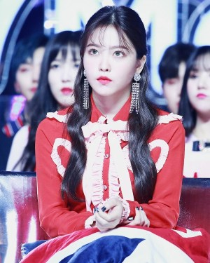 Ruffled Chest Hearts Shirt   Yeri – Red Velvet