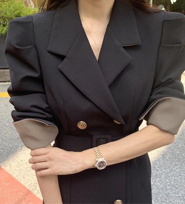 Classic Black Double Breasted Overcoat | IU – Hotel Del Luna