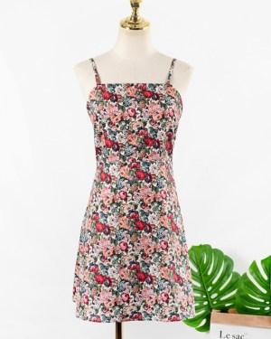 IU Floral Sling Dress (1)