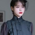 Jet Black Pleated Bib And Angel Printed Sleeves Shirt | IU – Hotel Del Luna