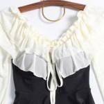 White Ruffled Off Shoulder Mini Dress | IU
