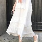 Tri Layered Ruffle White Skirt | Jennie – Blackpink