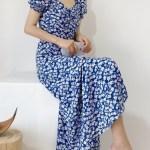 Blue Floral Side Slit Dress | Jisoo – BlackPink