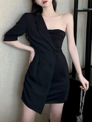 Joy Suit And Tube Black Dress 00005