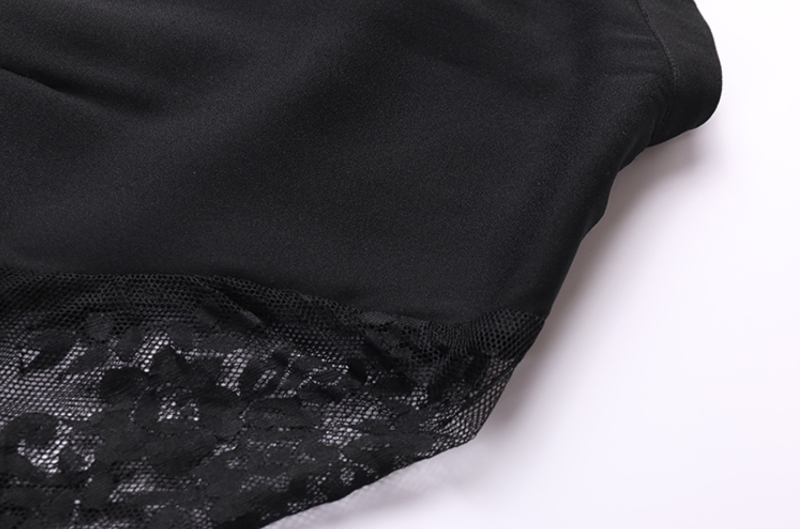 Lace Sleeves With Ruffled Shoulder Black Dress